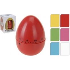 Eierwekker eivorm in 6 kleuren