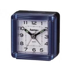 Hama 00113938 A30 Travelling Alarm Clock, Blue
