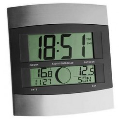 TFA 98.1006 - Draadloze wandklok met buitentemperatuur