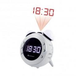 Soundmaster UR140WS Wit - Wekkerradio met projectie, wake-up light